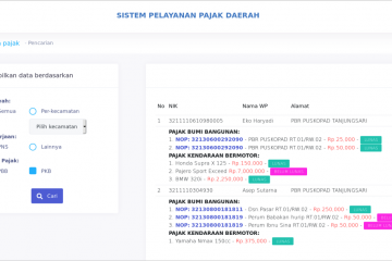 Sistem Pelayanan Pajak Daerah